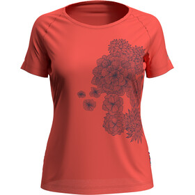 Odlo Concord T-shirt Damer, hot coral/bloom print